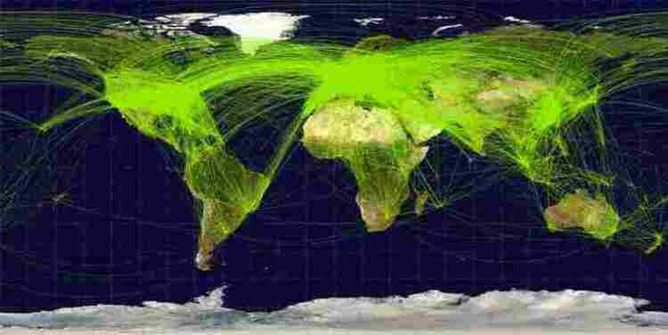 Traffic aérien mondial l'année 2009